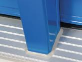 Revetement de porte en aluminium extrude